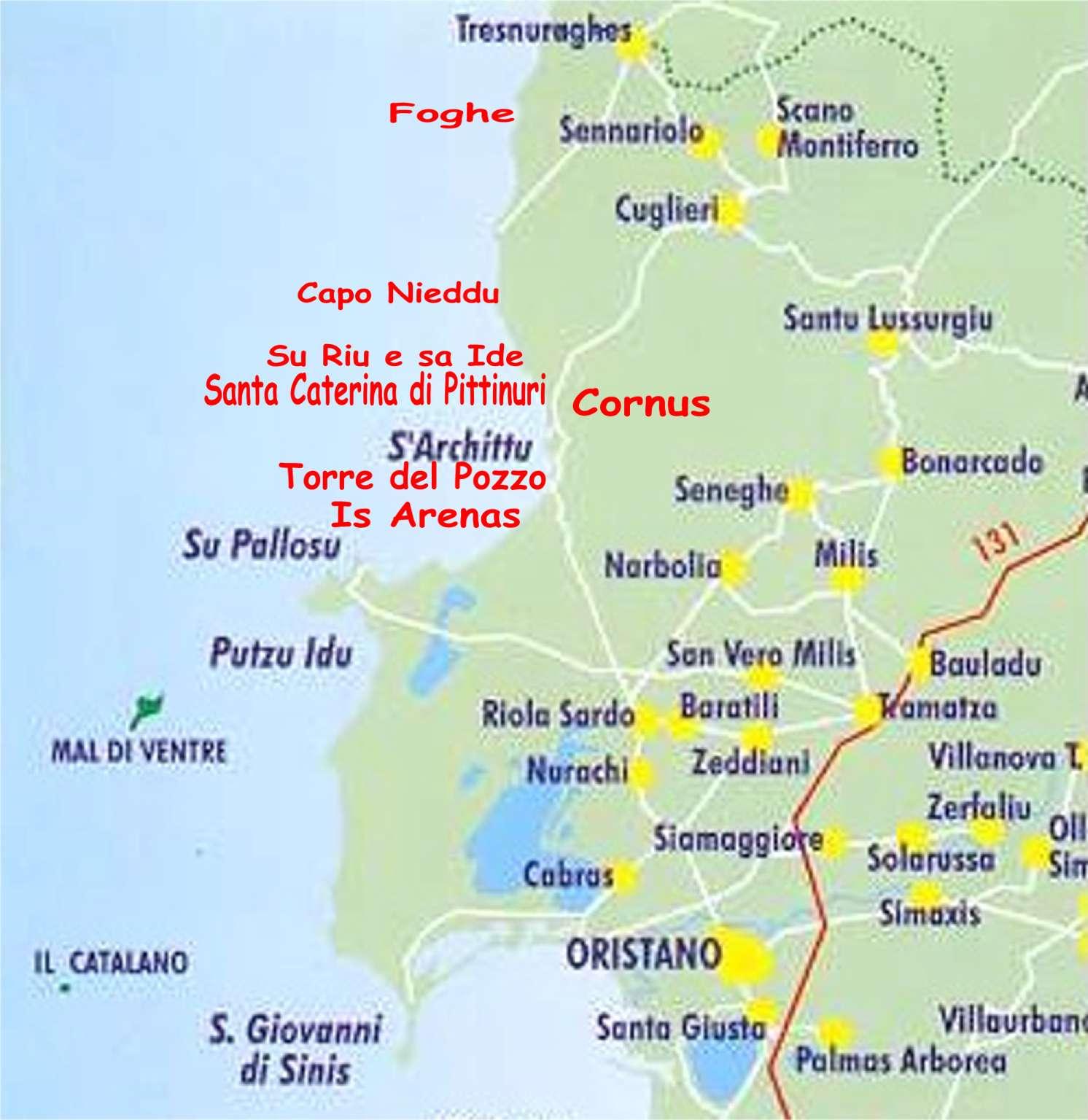 Cartina Sardegna Oristano.Bed Breakfast Da Angela Santa Caterina Di Pittinuri Cuglieri Or